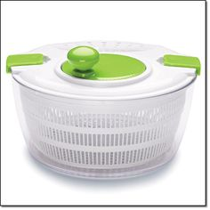 """Salad Spin and Serve Rid water from fresh foods with a spin. Pour spout easily helps remove excess water. Hand wash only. 9 1/2"""" diam. x 6 1/2"""" H. Plastic. Imported. http://jgoertzen.avonrepresentative.com/"""