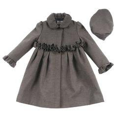 Girls Rosette Faux Wool Coat at totsy.com