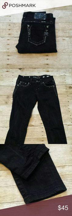 """Miss Me Skinny Bling Jeans! Miss Me Skinny Bling Jeans! Size 26, inseam 32"""" . Black. EUC. Miss Me Jeans Skinny"""