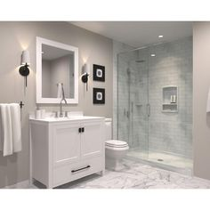 Bathroom Remodel Discover Swan Contour 43 in. W x 22 in. D Solid Surface Vanity Top with Sink in White - The Home Depot Bathroom Design Small, Bathroom Layout, Simple Bathroom, Bathroom Interior Design, Bathroom Ideas, French Bathroom, Neutral Bathroom, Classic Bathroom, Bathroom Organization