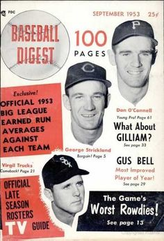 Sports Magazine Covers: Dan O'Connell, George Strickland, Virgil Trucks