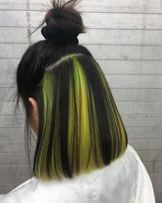 Green Wigs Lace Frontal Brazilian Clip In Hair Extensions 20 Inch Clip In Hair Extensions Hair Weave For Women Blue Green Wig Hair Color Streaks, Hair Dye Colors, Hair Color Dark, Cool Hair Color, Neon Hair Highlights, Hair Color Underneath, Hidden Hair Color, Aesthetic Hair, Dye My Hair