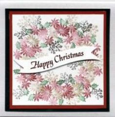 Tapestry rubber stamps make lovely Handmade Christmas Cards