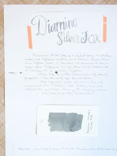Ink Review of Diamine Silver Fox by The Well Appointed Desk