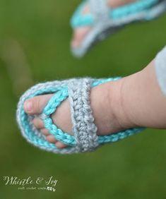Teje unas chanclas de crochet para tu bebé