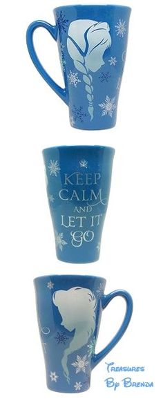 31 DAYS OF COFFEE MUGS: Disney Frozen Anna and Elsa Silhouette Keep Calm and Let it Go Coffee Mug