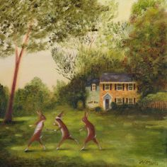 It's feeling quite autumnal here today, end of summer-ish, anyway. So, here's a commission I did a while back fir a collector in the USA. The house in the painting is theirs' and it a kind of golden-brown colour-way, I guess. I have no fancy fable to...