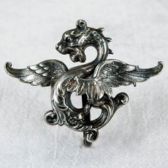 Griffin Watch Pin Sterling Gargoyle Watch Clip Brooch | eBay