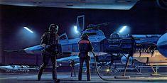 Illustrations originales du storyboard de Star Wars