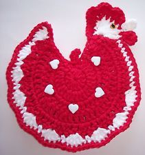 free crochet chicken potholder pattern | Chicken pot holder – Knitting Paradise – Forum