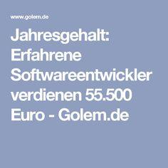 Jahresgehalt: Erfahrene Softwareentwickler verdienen 55.500 Euro - Golem.de Euro, Young Professional