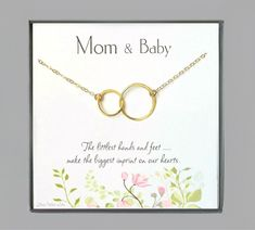 Mom And Baby Necklace Gift For Mom To Be - Sterling Silver, Gold, or Rose Gold Gifts For Coworkers, Gifts For Dad, Gifts For Friends, Gifts For Women, Baby Gifts, Or Rose, Rose Gold, Baby Necklace, Infinity Jewelry