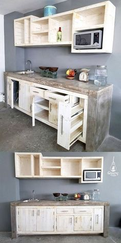 exposed cabinet hinges drawer pulls 20 unique wooden pallet ideas youll love with 70 stylish and inspired farmhouse kitchen island designs