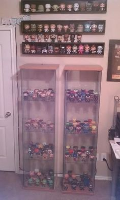 Your display, the Funko way! Funko Pop Display, Display Cabinets, Game Room Design, Pop Collection, Vinyl Toys, Pop Vinyl, Vinyls, Display Ideas, Vinyl Figures