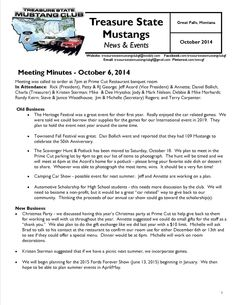 October Newsletter - click link to view entire newsletter:  http://treasurestatemustangclubgf.weebly.com/news--events.html