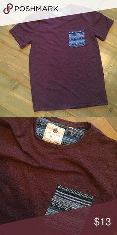Pac Sun T Shirt Men's brand new never worn size medium pocket t shirt from Pac Sun. Maroon. on the byas Shirts Tees - Short Sleeve