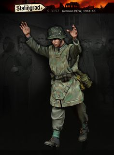 Wermacht POW in 1945 1/35 scale resin figure now available. Click on the pic for more and FREE Wordlwide shipping on all orders of $90 or more