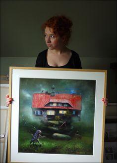 "portrait with ""Hikers Cottage"". Matylda Konecka"