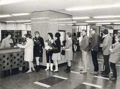 1960s Baillieu loans desk by University of Melbourne Alumni, via Flickr Historical Sites, Historical Photos, University Of Melbourne, Port Arthur, History Teachers, Colleges, Libraries, Museums, Inventions
