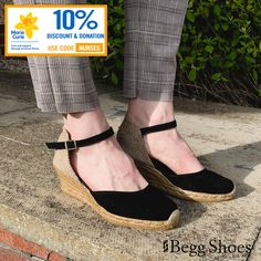 ☀️ Enjoy summer with 10% off a new pair of wedge Espadrilles from Toni Pons - we will also donate a further 10% to @mariecurieuk 👩⚕️ Use code: Nurses Get them here 👉 www.beggshoes.com/toni-pons-lloret-5-0101-30 #espadrilles #summer #discount #donate #tonipons #wedges #wedgeshoes #mariecurie Black Sandals, Wedge Sandals, Wedge Shoes, Bags 2014, Closed Toe Sandals, Women's Espadrilles, Enjoy Summer, Summer Sandals, Back Strap