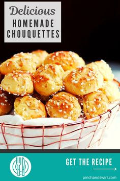 With this authentic French Chouquette recipe (Sugar Puffs / chouquettes), you can easily make a homemade version of the classic pattisserie / boulangerie treat that you'll find in Paris and all over France! Easy Summer Meals, Healthy Summer Recipes, Egg Recipes, Great Recipes, Easy Make Ahead Appetizers, Easy French Recipes, Sugar Puffs, Easy Party Food, French Pastries