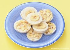 Frozen Banana Yoghurt Bites recipe - Simple healthy snack idea with only 3 ingredients - easy recipe for kids from Eats Amazing UK