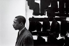 John Coltrane at the Guggenheim, NYC, Photo by William Claxton, 1960