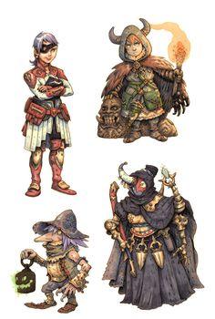 JRPG Characters 5 by eoghankerrigan.deviantart.com on @DeviantArt