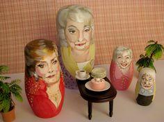 Golden Girls Nesting Dolls by Ginger Williams $200