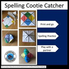 Are you looking for an interactive spelling activity that can be used at any level? The spelling cootie catcher can be used to support students with any spelling words needing to be learned. Just cut out, fold and play. Spelling Practice, Spelling Activities, Spelling Words, Relief Teacher, Substitute Teacher, Upper Elementary, Catcher, Middle School, School Ideas