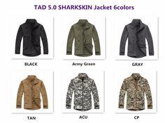 (37.61$)  Buy here - http://ai5uh.worlditems.win/all/product.php?id=32766235319 - Pro TAD V5.0 Mens Softshell Windbreaker Shark Skin Soft Shell Fleece Waterproof Jacket / Coat