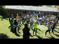 Gender reveal with silly string