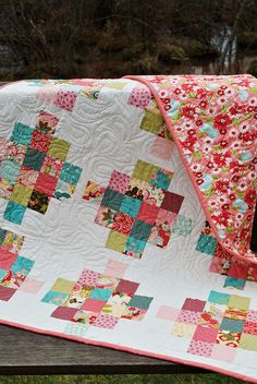 Mixed Bouquet quilt Pattern by Sweet Jane's, Sophie fabric by Chez Moi | Flickr - Photo Sharing!