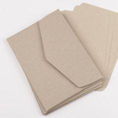 Coffret 5 enveloppes + cartes kraft - Gaufré coeur