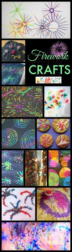 Firework crafts and treats roundup, perfect for celebrating Guy Fawkes, Diwali and 4th July.  Make your kids crafts go with a BANG with these superb firework crafts and treats.