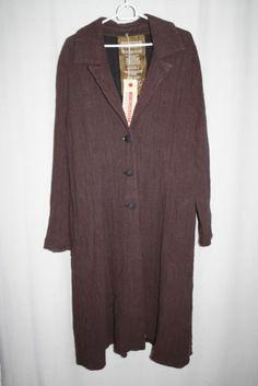 cocon.commerz PRIVATSACHEN ÜBERVATER Langer Mantel aus Arbeitsleinen in braun | eBay