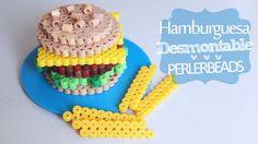 Hamburguesa desmontable PerlerBeads ( Midi )