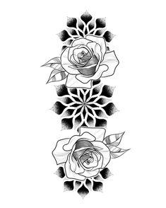 Super back tattoo female mandala 52 Ideas Mandala Tattoo Sleeve, Forearm Sleeve Tattoos, Mandala Tattoo Design, Tattoo Sleeve Designs, Flower Tattoo Designs, Rose Drawing Tattoo, Tattoo Set, Back Tattoo, Sketch Tattoo Design