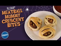 Meatball Mummy Crescent Bites recipe from Pillsbury.com