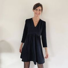 Dresses With Sleeves, Sewing, Long Sleeve, Instagram, Fashion, Silk Organza, Button Up Dress, Moda, Dressmaking
