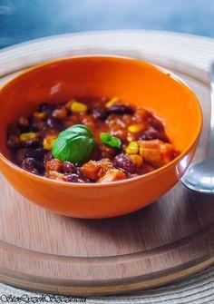 Sto łyżek szczęścia: Zupa meksykańska z kurczakiem lub pulpecikami Chili, Soup, Blog, Chile, Blogging, Soups, Chilis