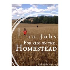 10 jobs for kids on the Homestead | livinlovinfarmin (.com)