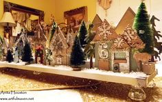The Artful Maven Haven: The Hood At Christmastime!- so beautiful! made with sizzix tim holtz dies