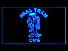 US U.S. Navy Seals Team One 1 Bar Beer Neon Light Sign