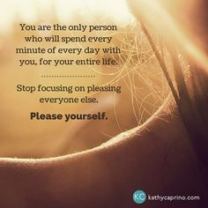 """Isn't it time to stop pleasing everyone else at the expense of your own healthy, happy life? Take this 30-day """"I'm Pleasing Myself!"""" Challenge with me."""