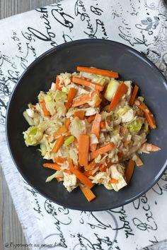 Spitzkohl-Gemüse-Pfanne mit Hähnchen