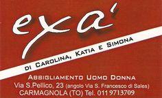 Sponsorizza l'abito da sposo di Diego  Exà  Via S. Pellico 23 Carmagnola (To)  Tel 011.9713709