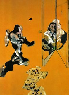 FRANCIS BACON LEFT PANEL Triptych-Studies from the Human Body, 1970 Oil on canvas Dimensions 198 x 147.5 cm (each) Collection Private Collection
