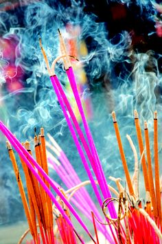 Incense in Vietnam. Photo by Lyn Hunt