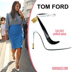 Kim Kardashian was spotted wearing Tom Ford white patent leather pumps while out in Miami.  continue reading →